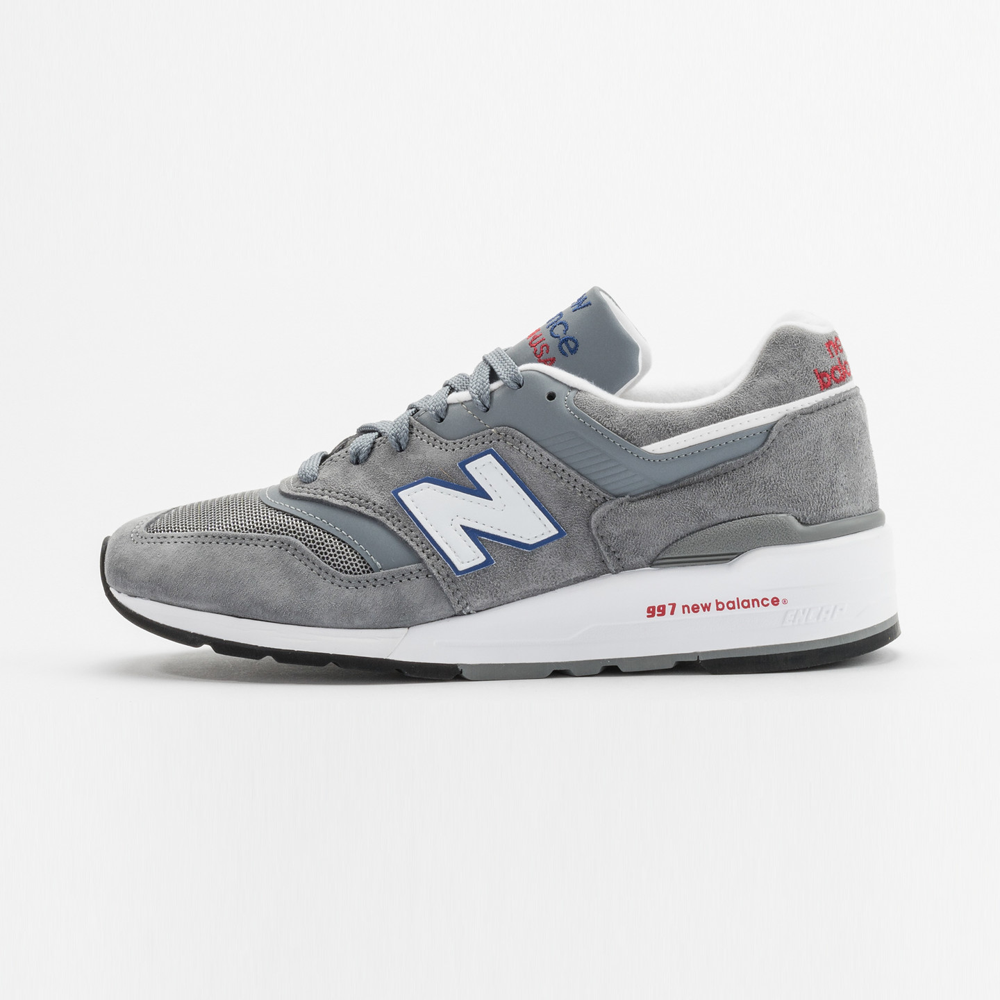 New Balance M997 Made in USA Grey / Blue / Red M997CNR-44