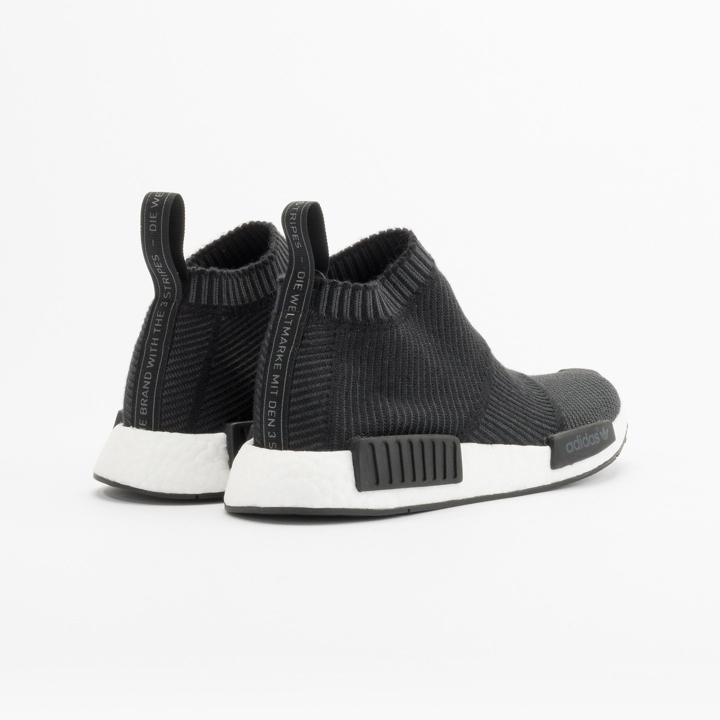 Adidas NMD CS1 City Sock Boost Primeknit Wool Core Black / Running White S32184-37.33