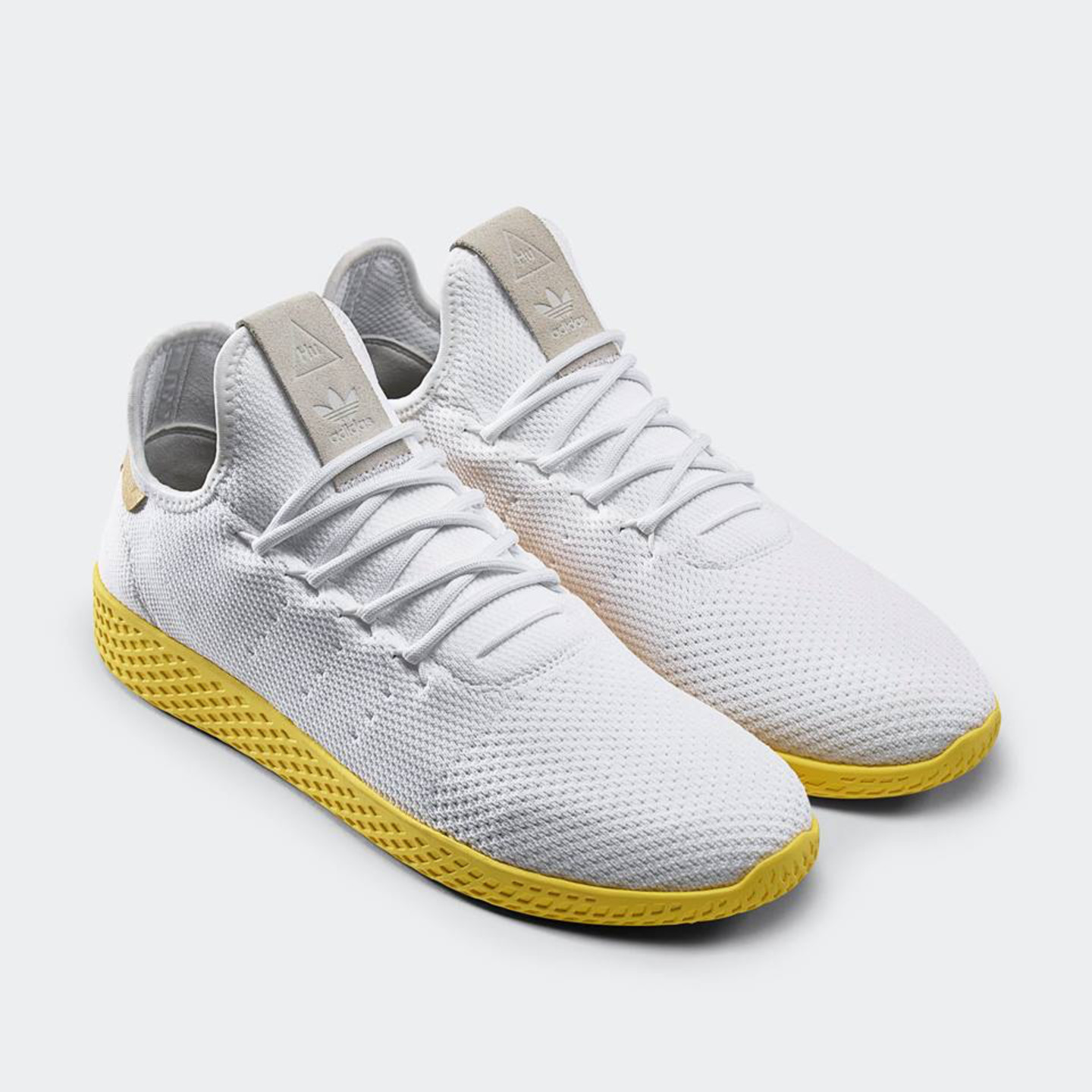 new style 2fd28 5fd50 Adidas PW Tennis HU. Ftwwht  Yellow  Gold Human Race by Pharrell