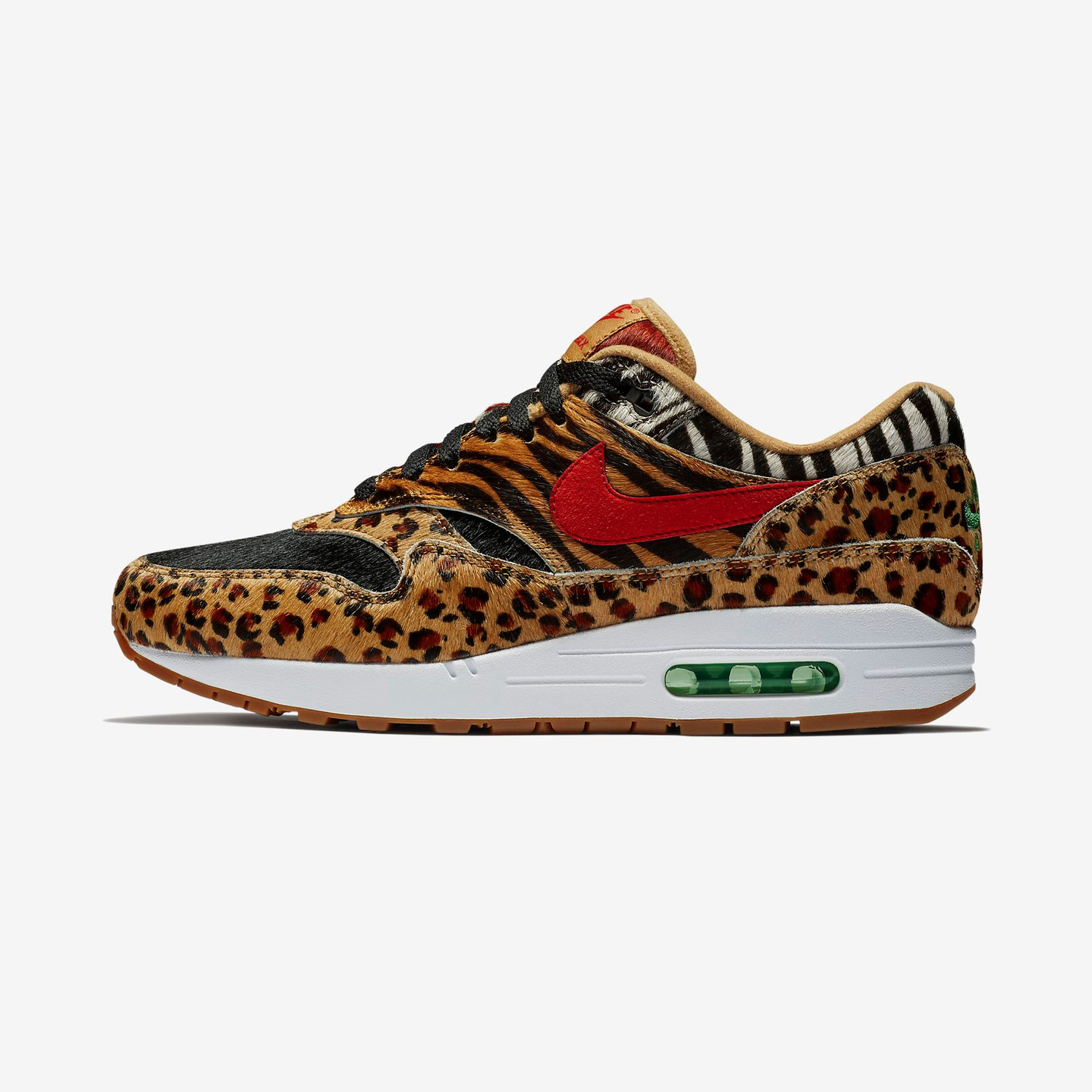 Nike Air Max 1 DLX 'Atmos Animal' Wheat / Bison / Classic Green / Sport Red AQ0928-700