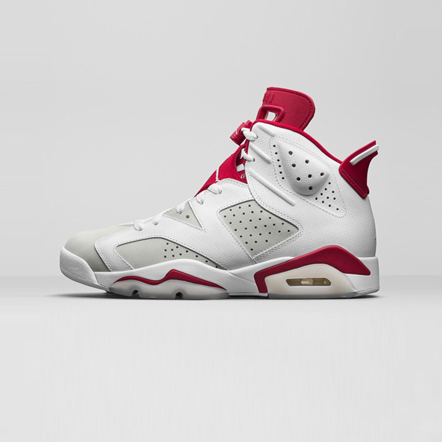 Jordan Air Jordan 6 Retro Alternate GS White / Pure Platinum / Gym Red 384665-113-38.5