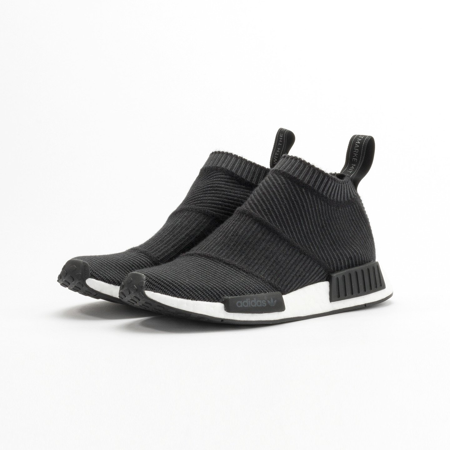 Adidas NMD CS1 City Sock Boost Primeknit Wool Core Black / Running White S32184-42.66