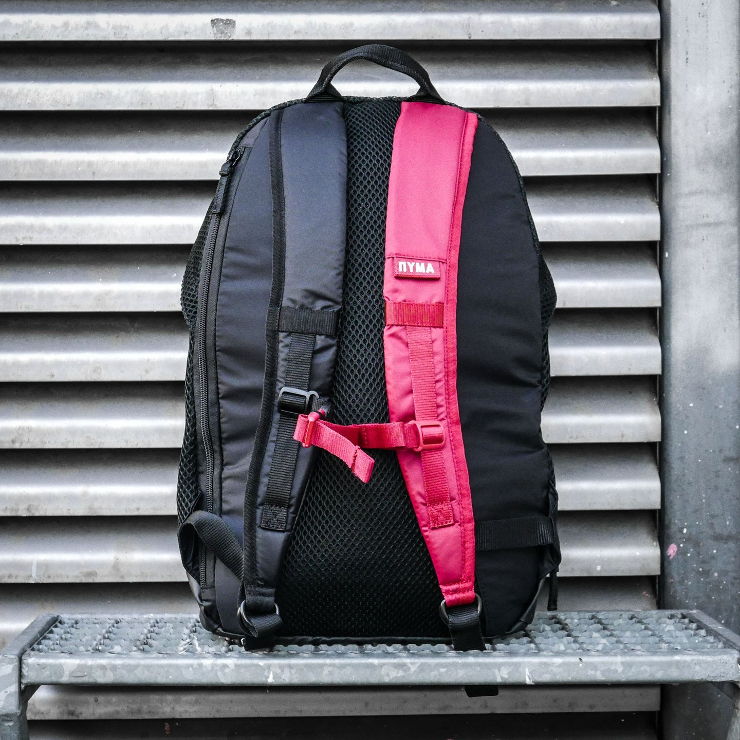 Puma Tactical Backpack x Outlaw Moscow Puma Black / Rebel Red / Off White 075424 01