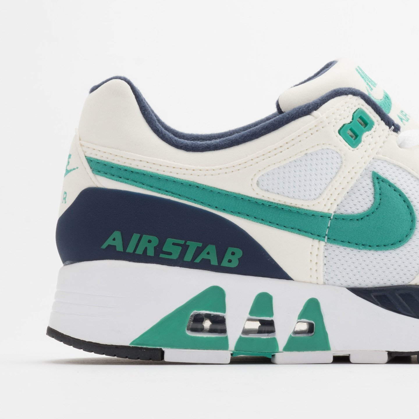 Nike Air Stab White/Emerald Green-Sl-Mid Nvy 312451-100-46