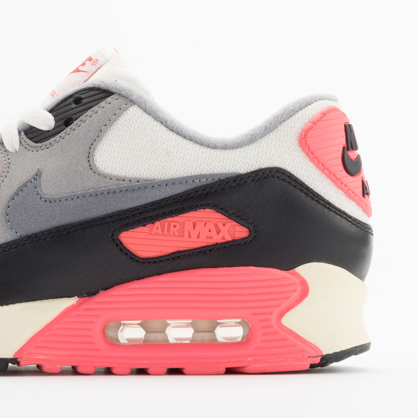 Nike Air Max 90 OG Vintage Infrared Sail/Cool Grey-Mdm Grey-Infrrd 543361-161-38.5