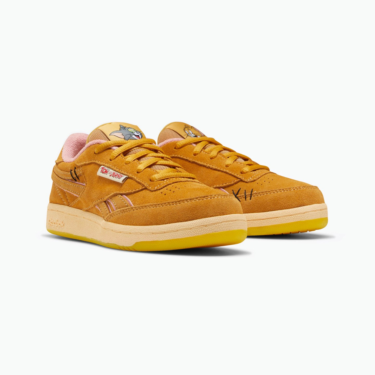 Reebok Club C Revenge Kids 'Tom & Jerry' Bold Brass / Quiet Pink FW4646
