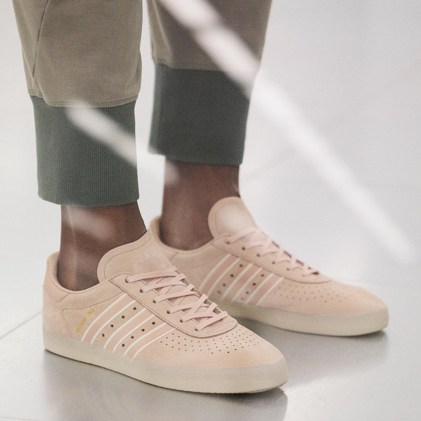 Adidas 350 x Oyster Holdings Ash Pearl / Chalk White / Gold Metallic DB1976