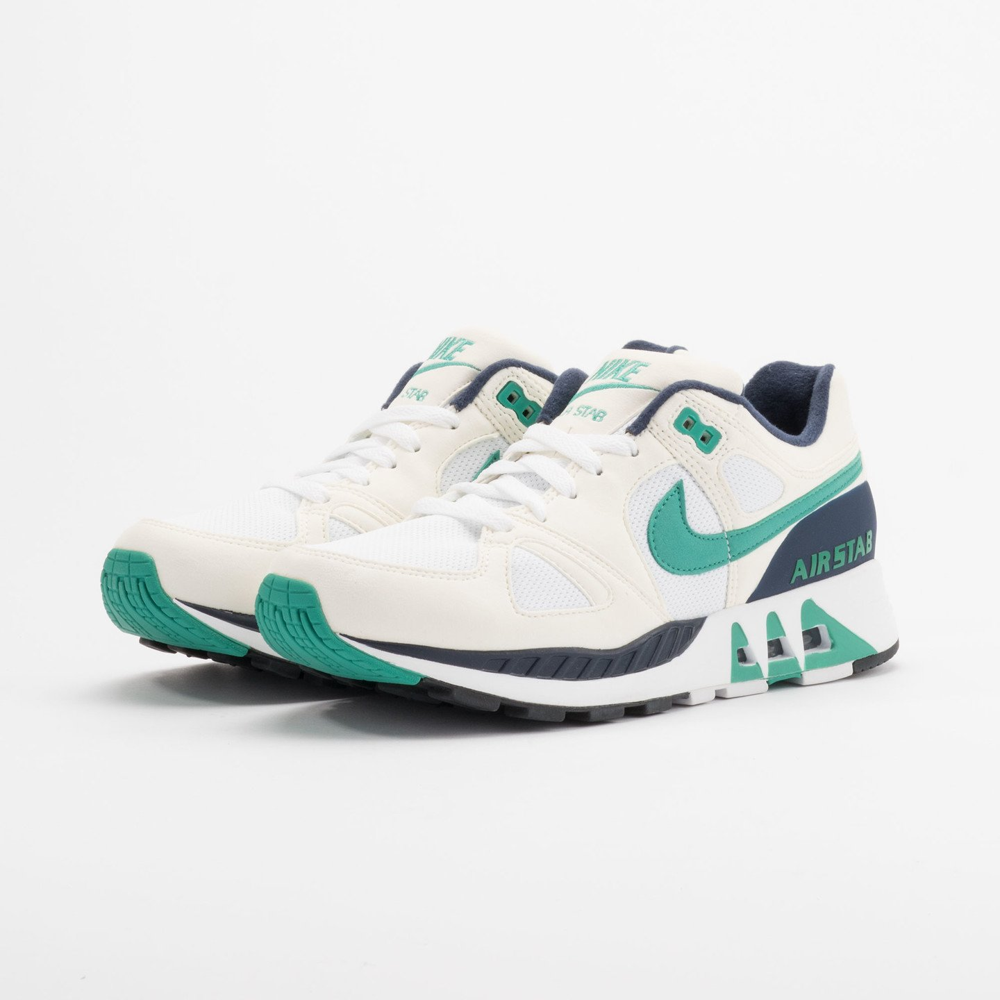 Nike Air Stab White/Emerald Green-Sl-Mid Nvy 312451-100-40.5