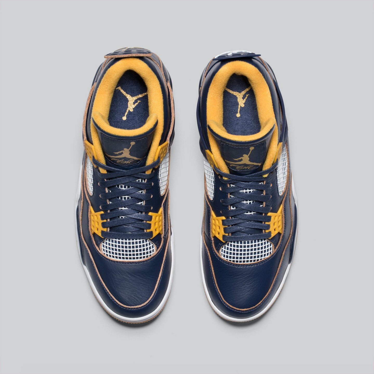 Jordan Air Jordan 4 Retro 'Dunk From Above' Midnight Navy / Golden Yellow / White 308497-425-43