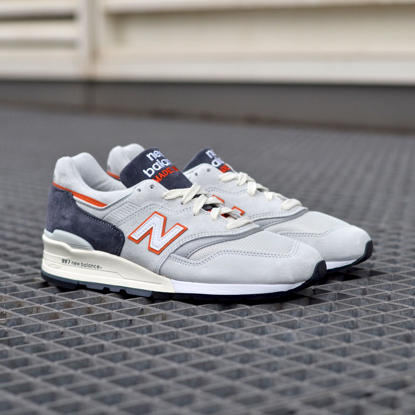 New Balance M997 Made in USA Grey / Orange M997CSEA-42