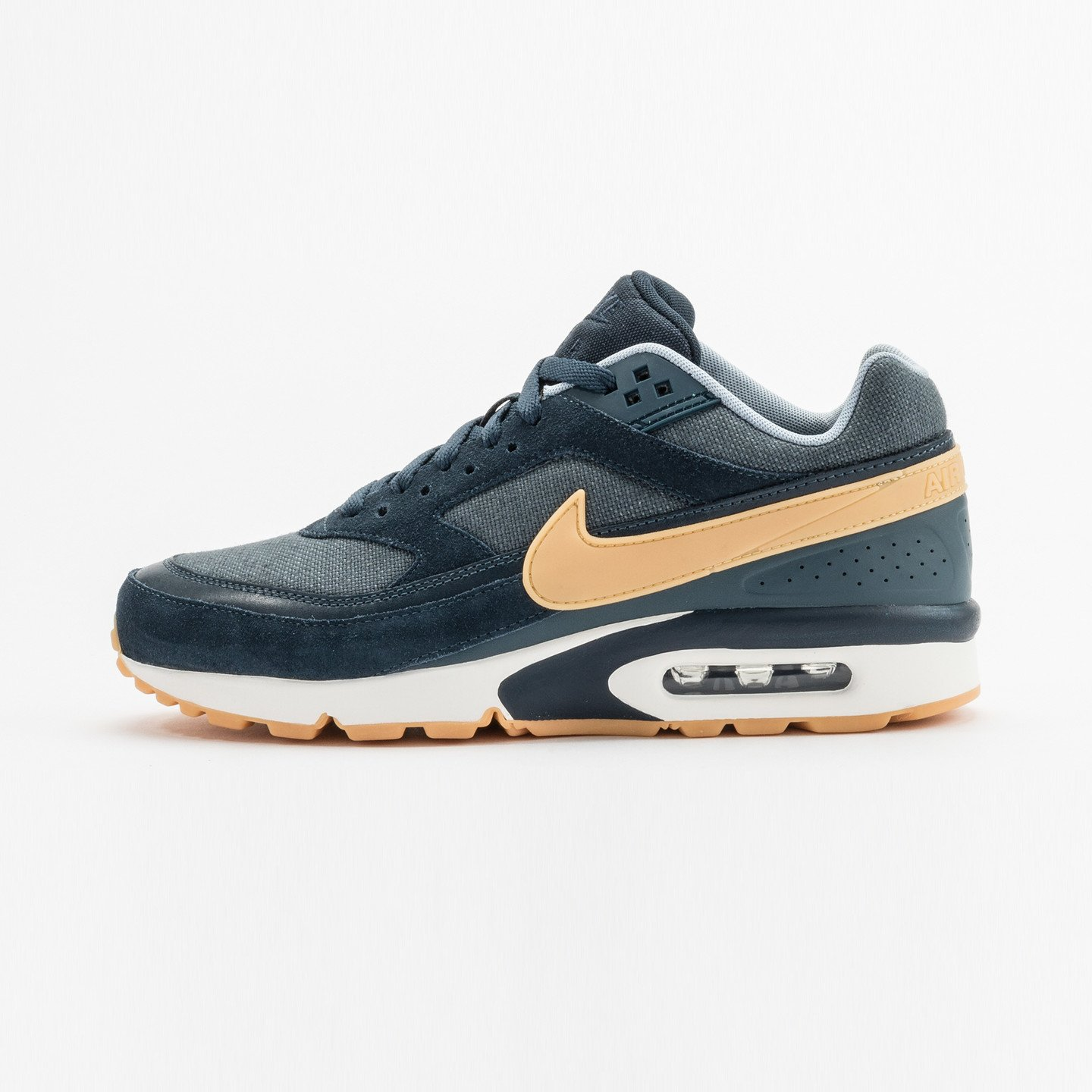 Nike Air Max BW Premium Armory Navy / Yellow / Gum 819523-401-44