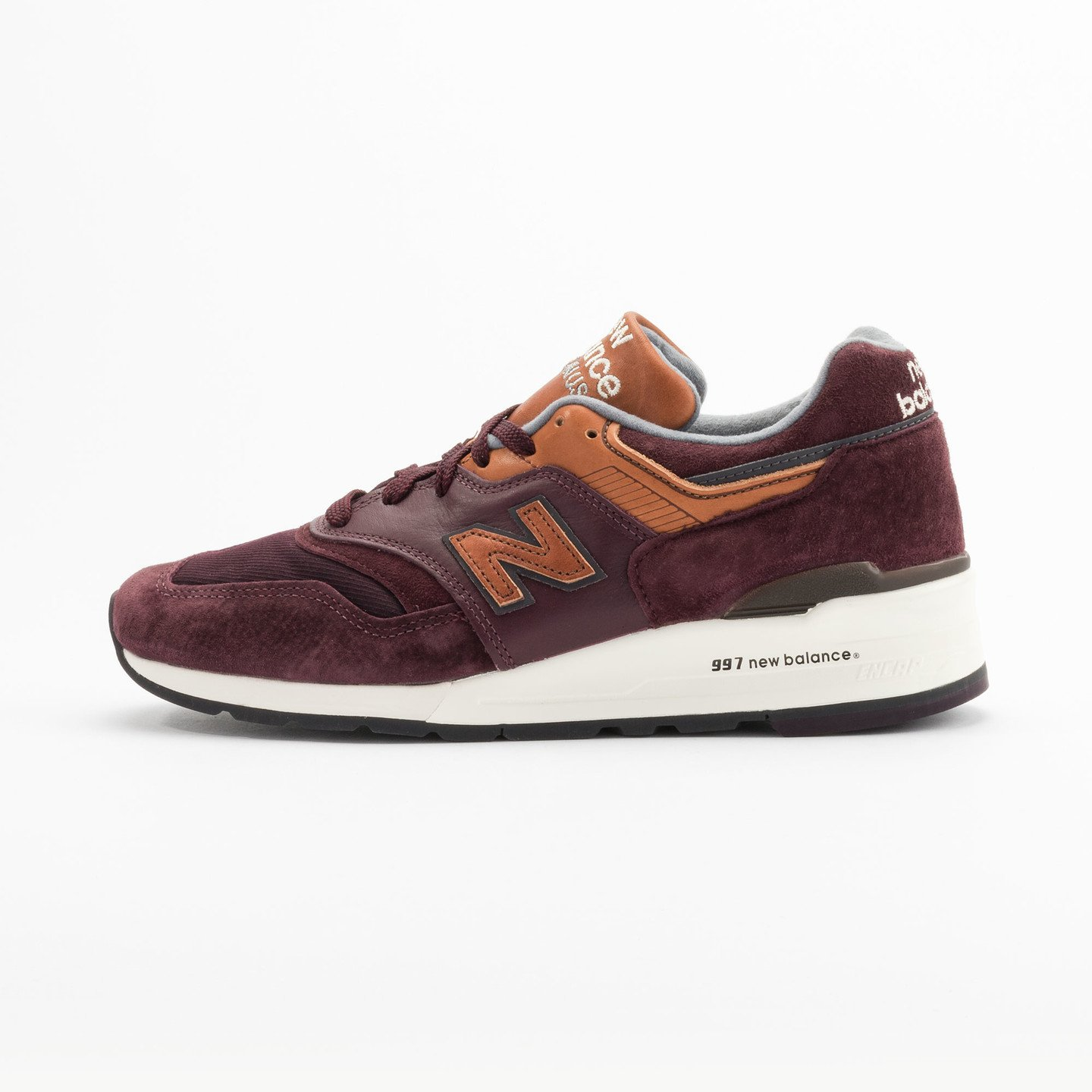 New Balance M997 Made in USA Burgundy / Light Brown M997DSLR-42