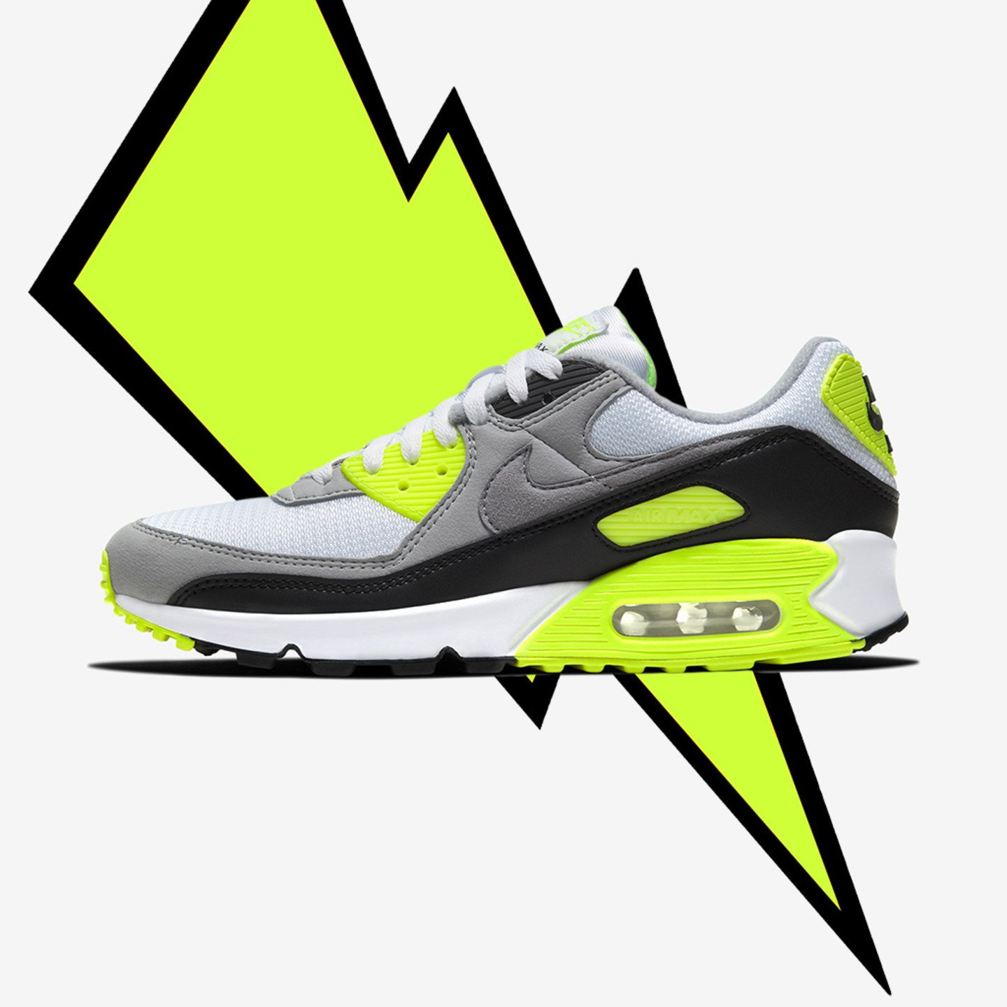 Nike Air Max 90 OG 'Volt' White / Particle Grey / Volt / Black CD0881-103