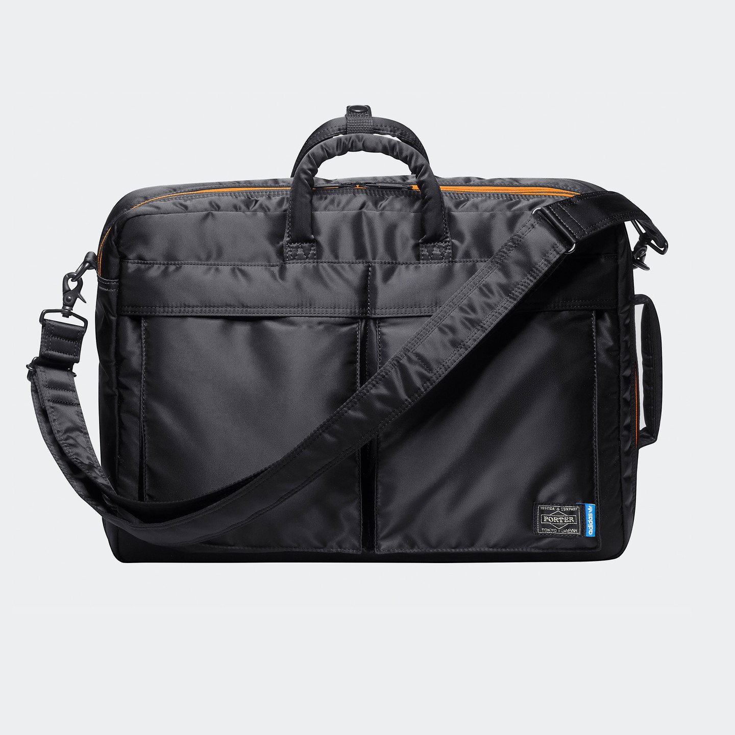 Adidas 3-Way Brief Case x Porter Core Black / Bright Orange / Blue CJ5748