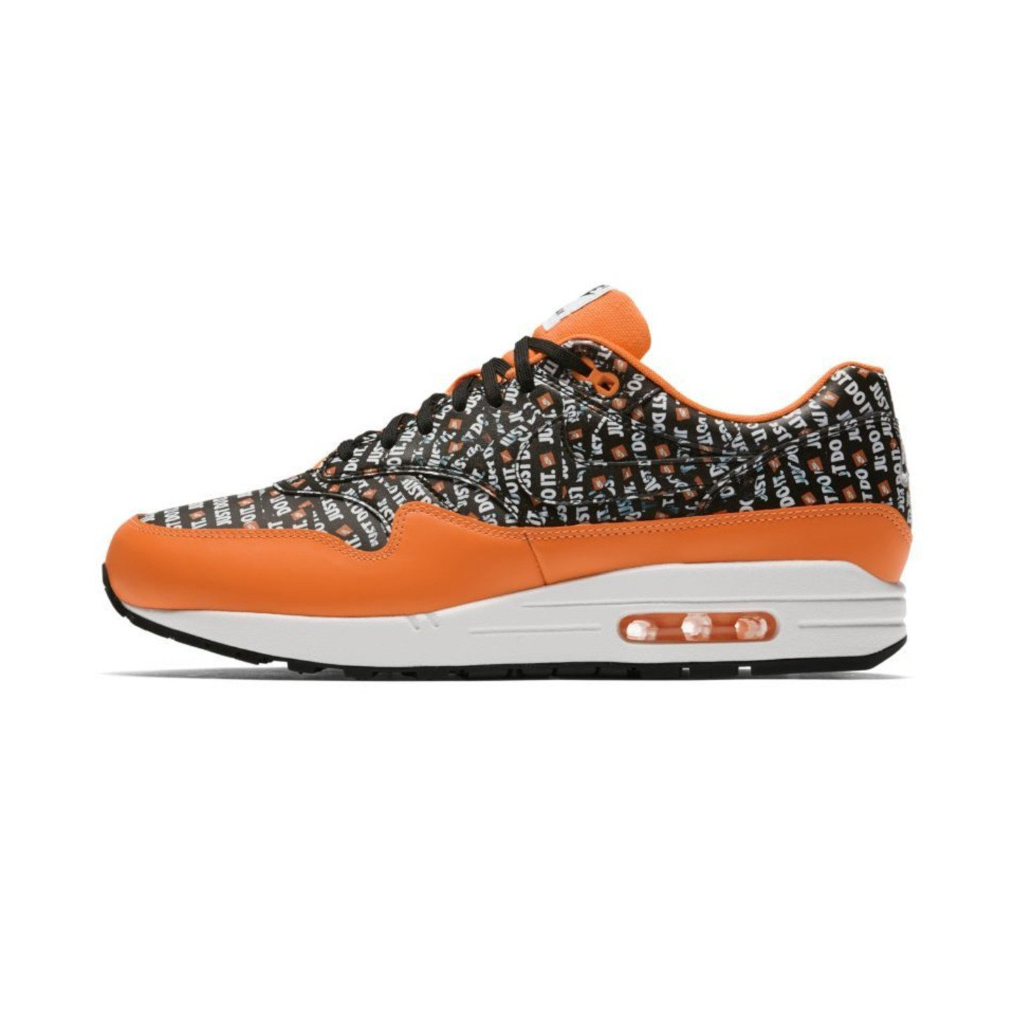 beauty official photos low price Nike Air Max 1 Premium 'Just Do It' - Total Orange / Black / White ...