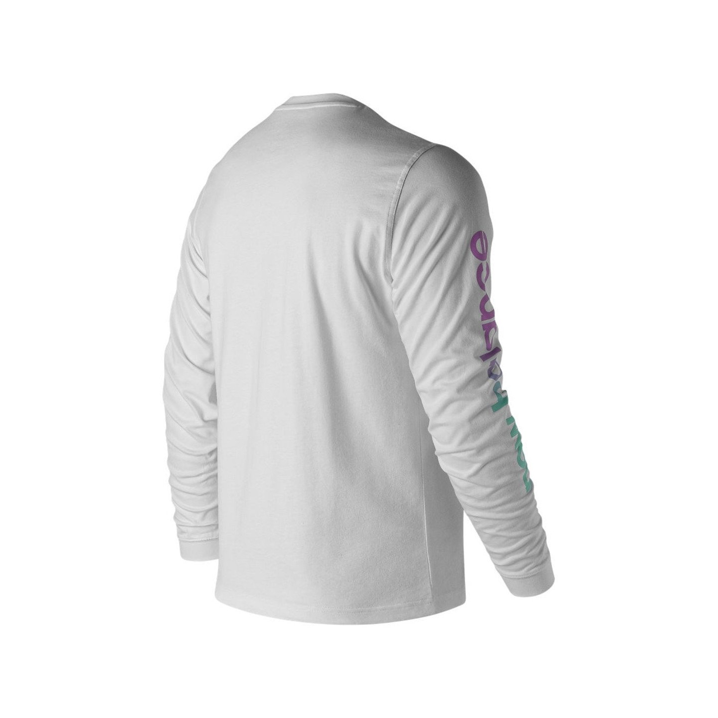 New Balance Long Sleeve Tee White / Black MT91545WHT