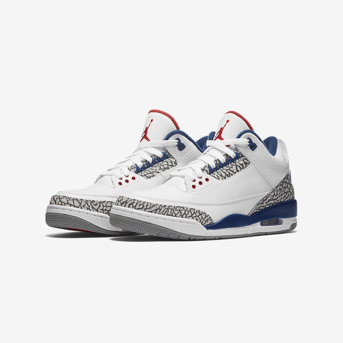 Jordan Air Jordan 3 Retro OG 'True Blue' GS True Blue / Cement Grey / Fire Red 854261-106-37.5