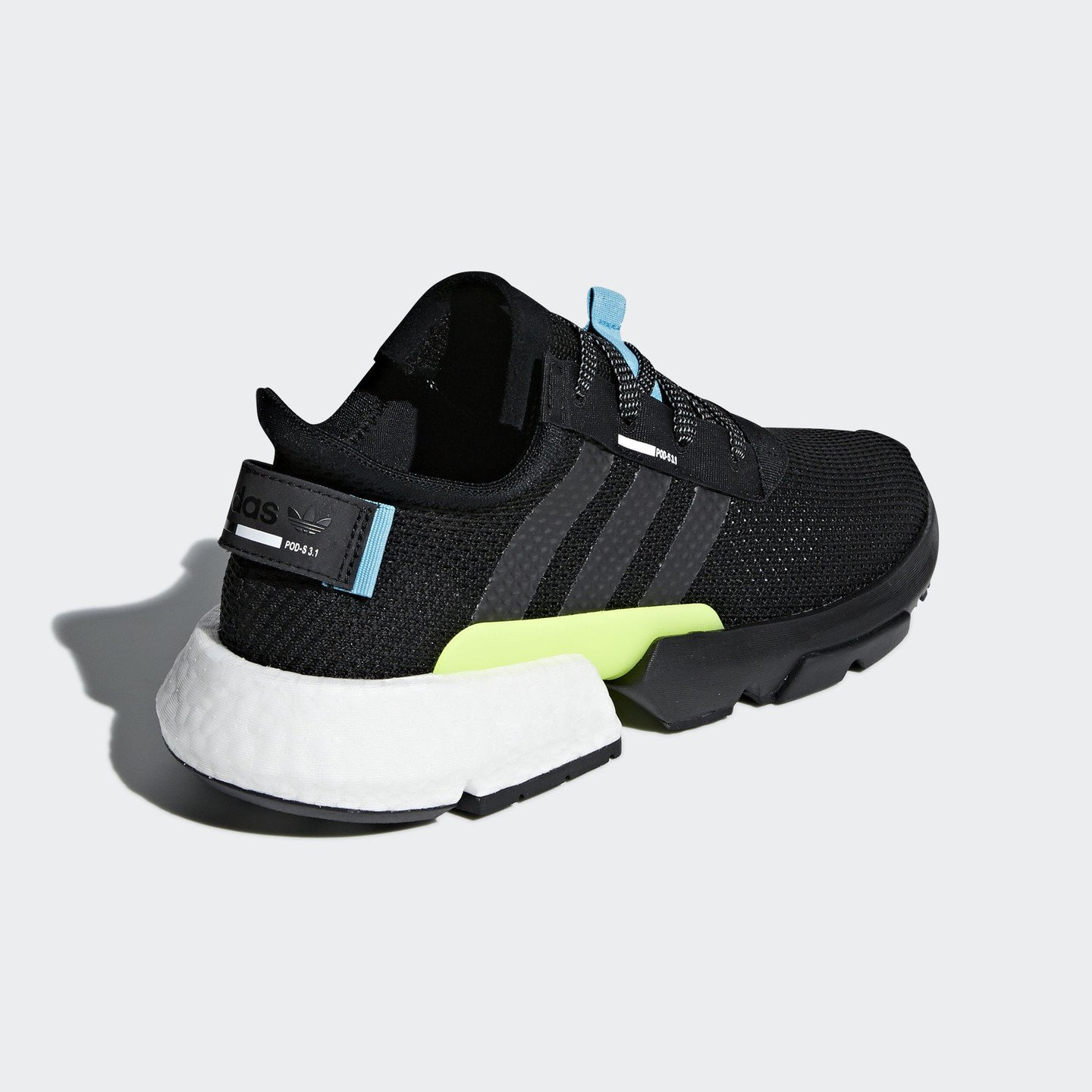 Adidas P.O.D.-S3.1 Boost Core Black / Shock Yellow / Hyper Blue AQ1059
