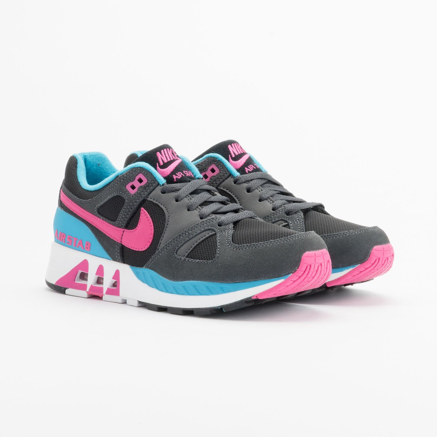 Nike Air Stab Black/Hot Pink-Anthrct-Bl Lgn 312451-004-47.5