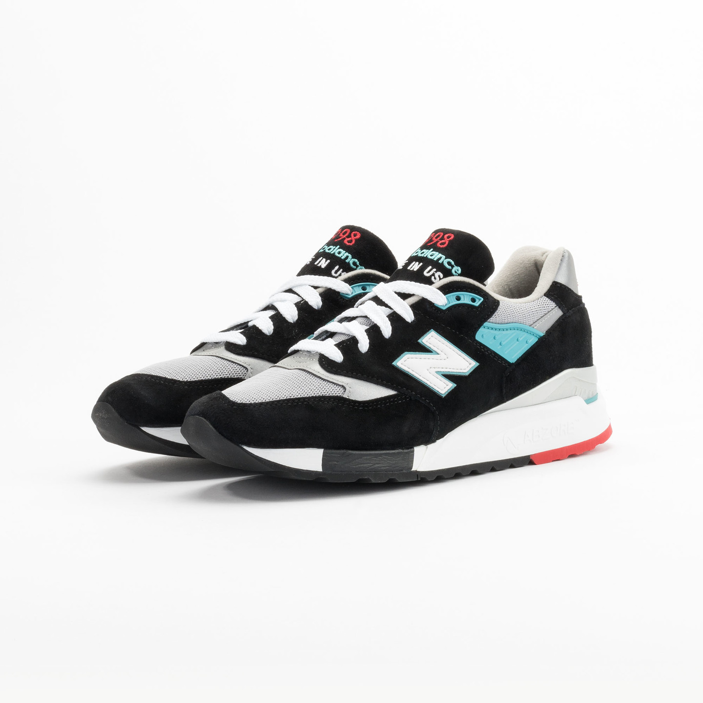 New Balance M998 CBB - Made in USA Black / Grey / Turquoise M998CBB-44