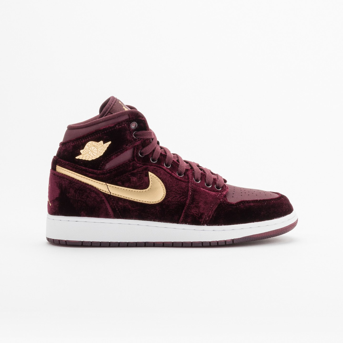 Jordan Air Jordan 1 Retro High Premium 'Heiress' GS Night Maroon / Metallic Gold / White 832596-640-39