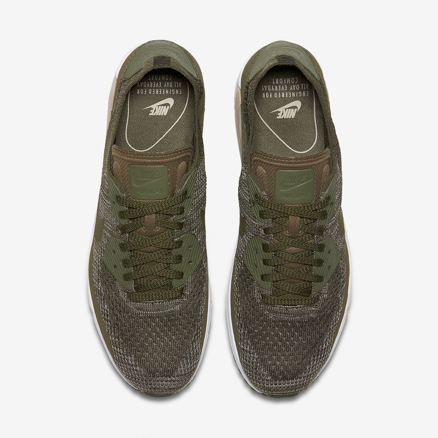 Nike Air Max 90 Flyknit 2.0 Medium Olive - String 875943-200