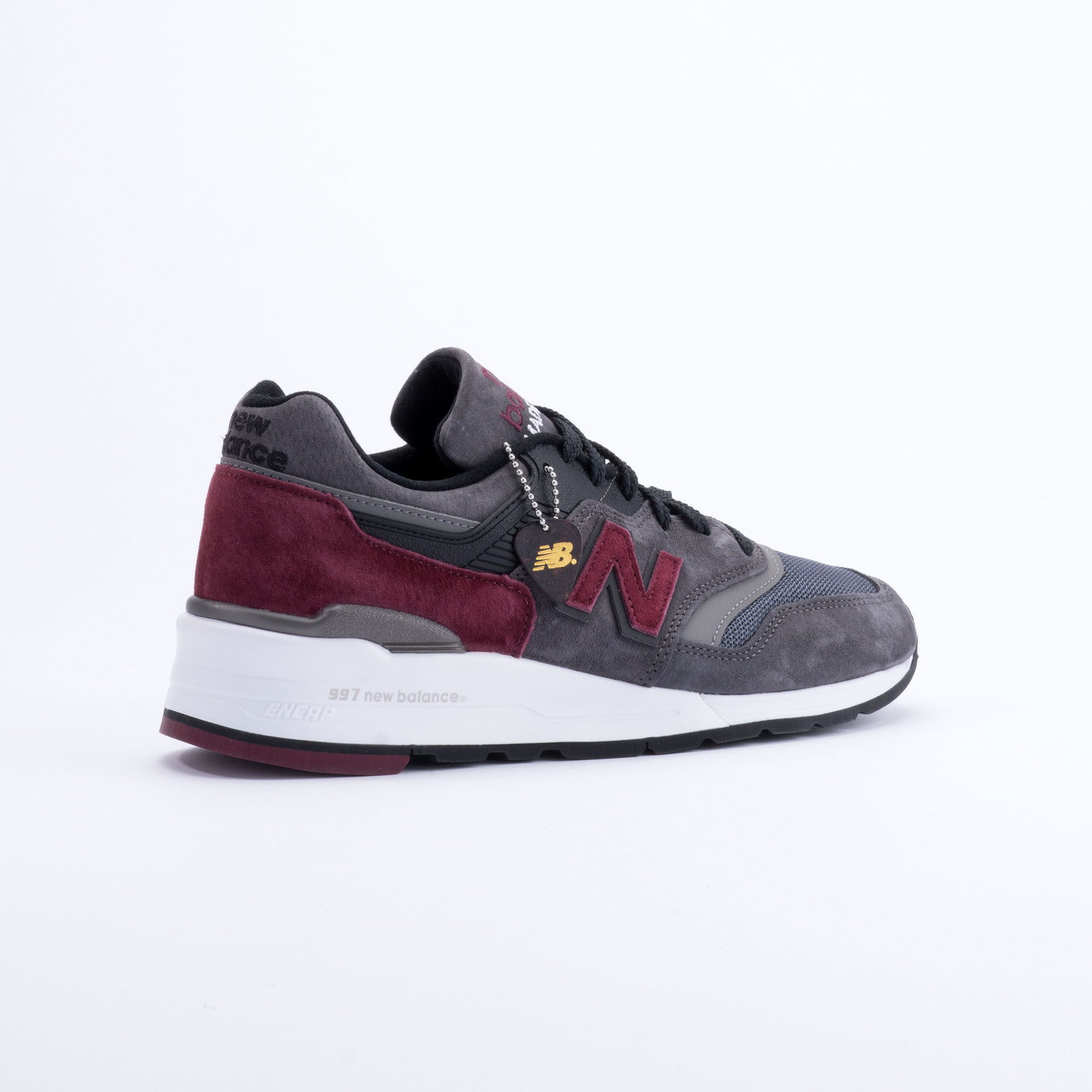 New Balance M997 Made in USA Charcoal/Burgundy M997CCF-40