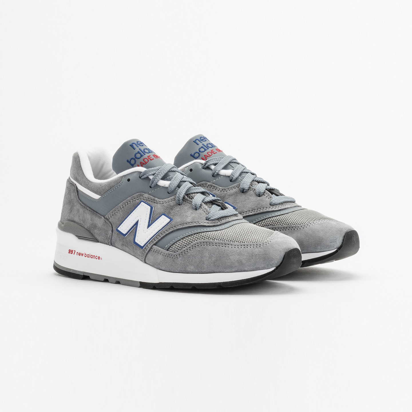 New Balance M997 Made in USA Grey / Blue / Red M997CNR-43