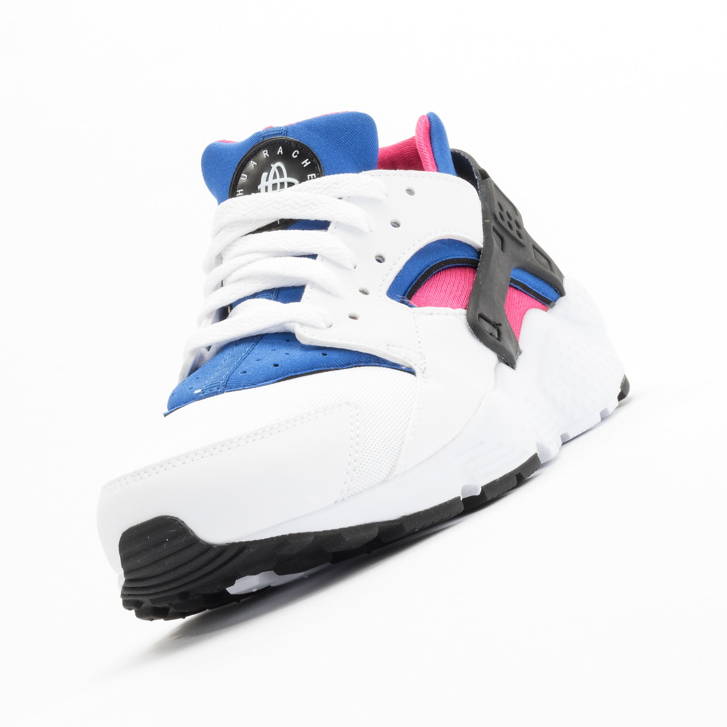 Nike Huarache Run GS White / Black / Game-Royal / Vivid-Pink 654275-106-36.5