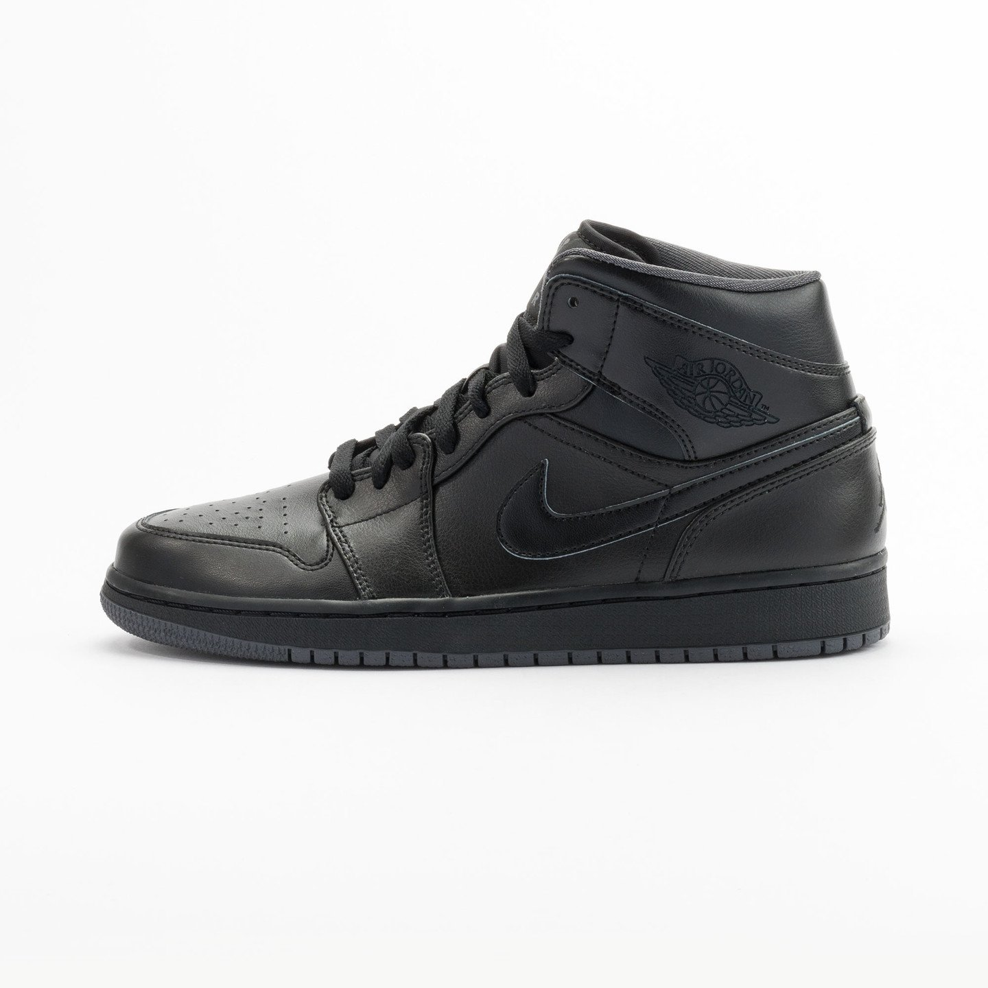 Nike Air Jordan 1 Mid Black / Dark Grey 554724-021-44
