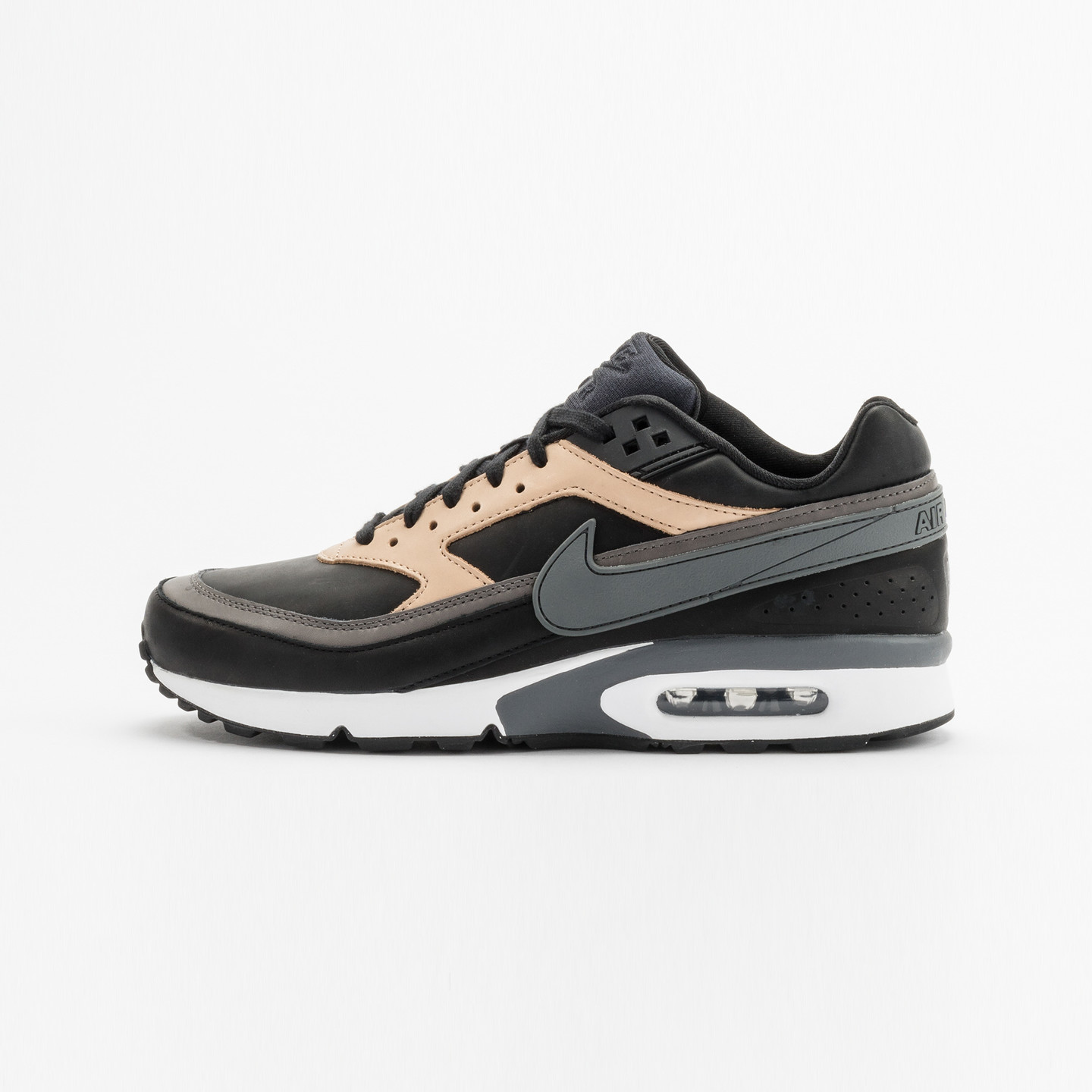 Nike Air Max BW Premium Leather Black / Dark Grey / Vachetta 819523-001-43