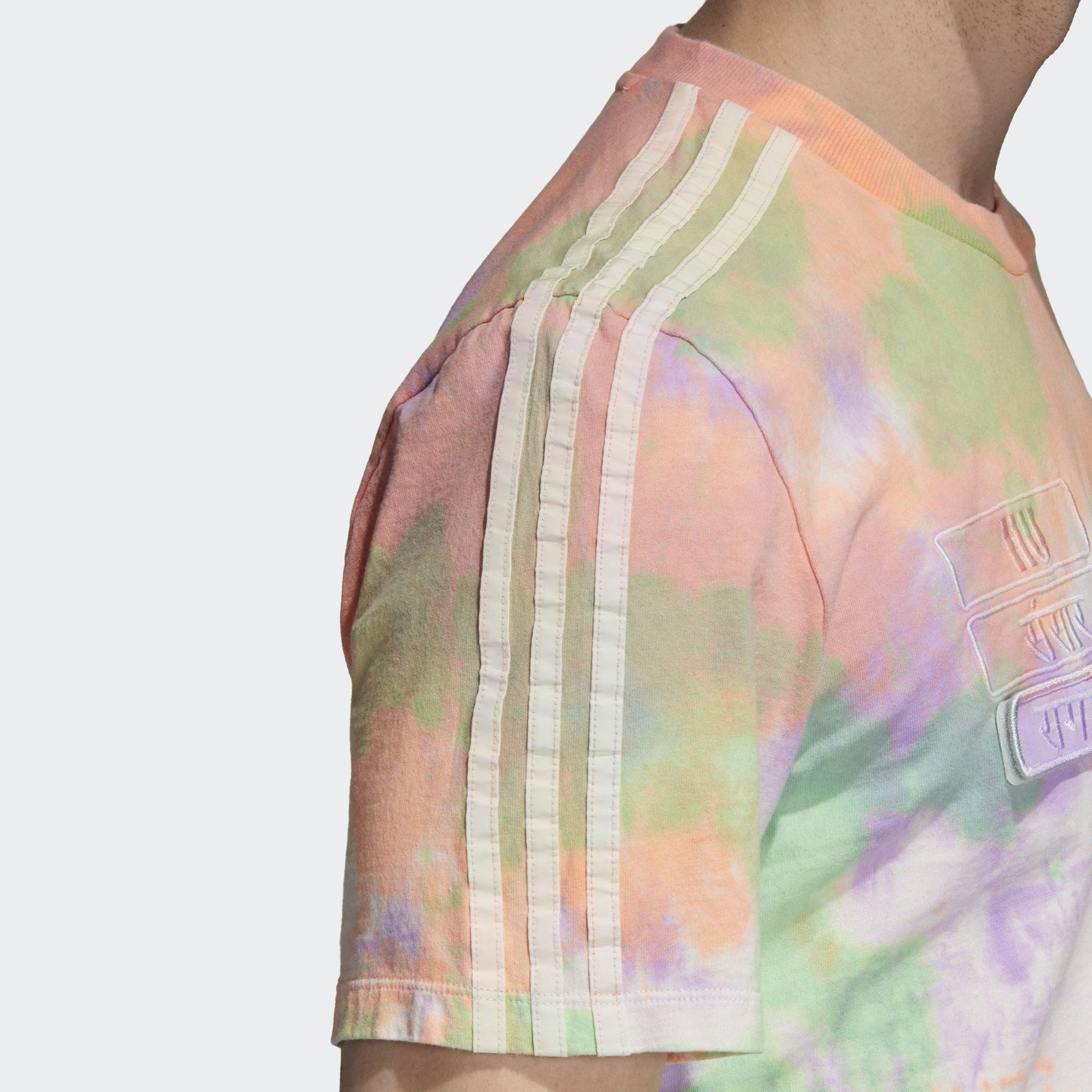 Adidas Pharrell Williams HU Holi T-Shirt 'Powder Dye' Multicolor / White CW9414