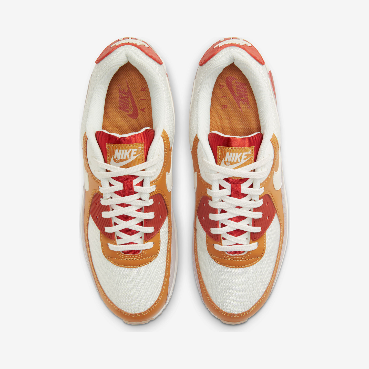 Nike Air Max 90 Rugged Orange / Sail / Wheat / Gum /  Light Brown CV8839-800