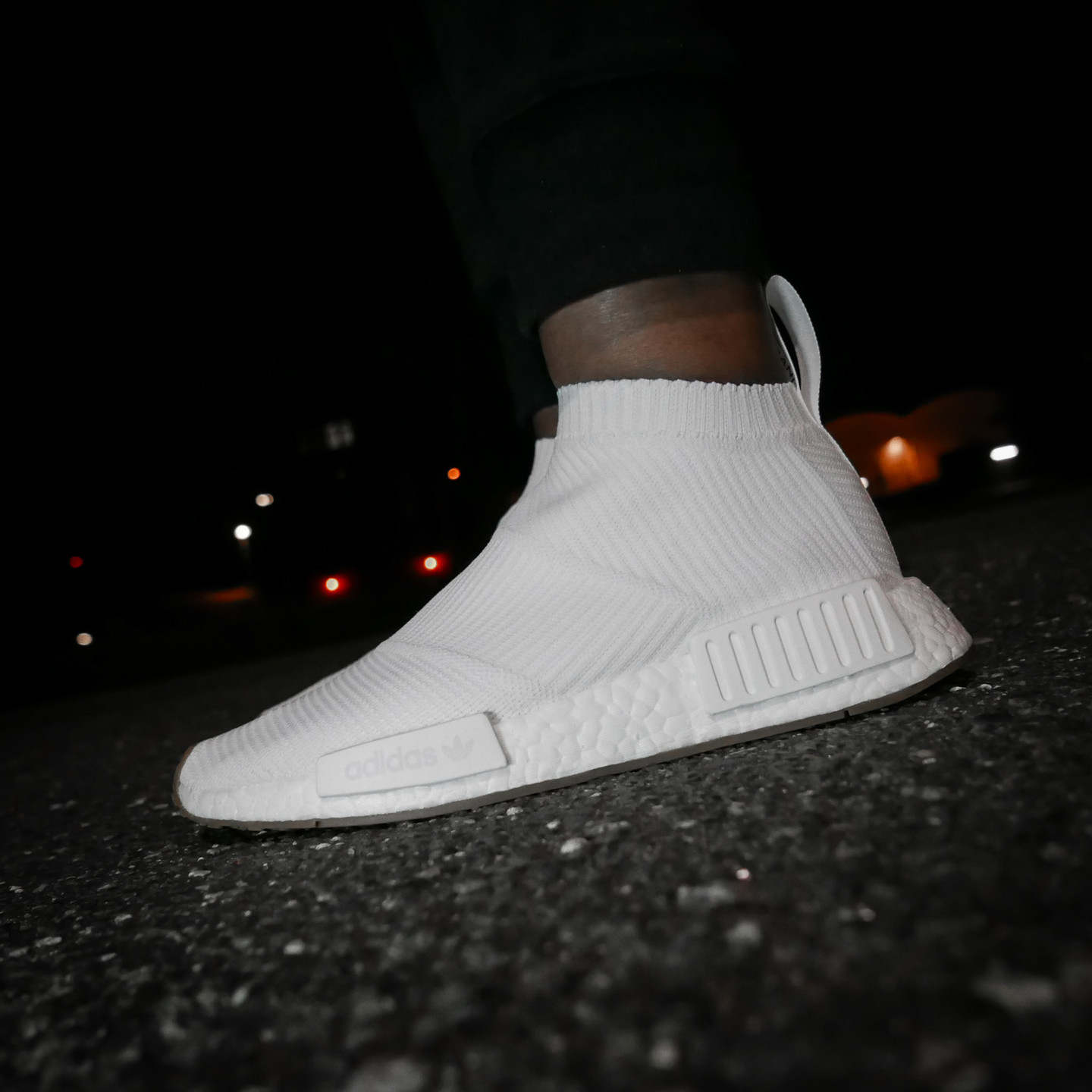 Adidas NMD CS1 City Sock Boost Primeknit Running White / Gum BA7208-44.66