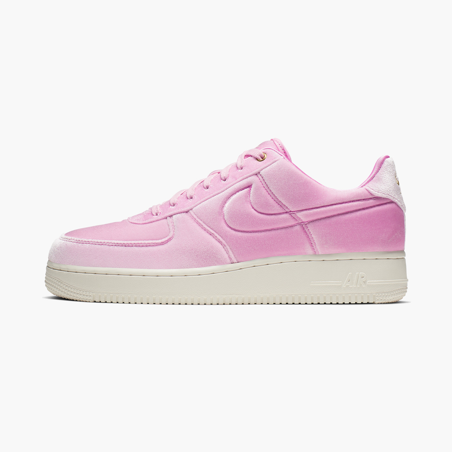 Nike Air Force 1 ´07 Premium 'Pink Velvet' Pink Rise / Sail / Metallic Gold AT4144-600