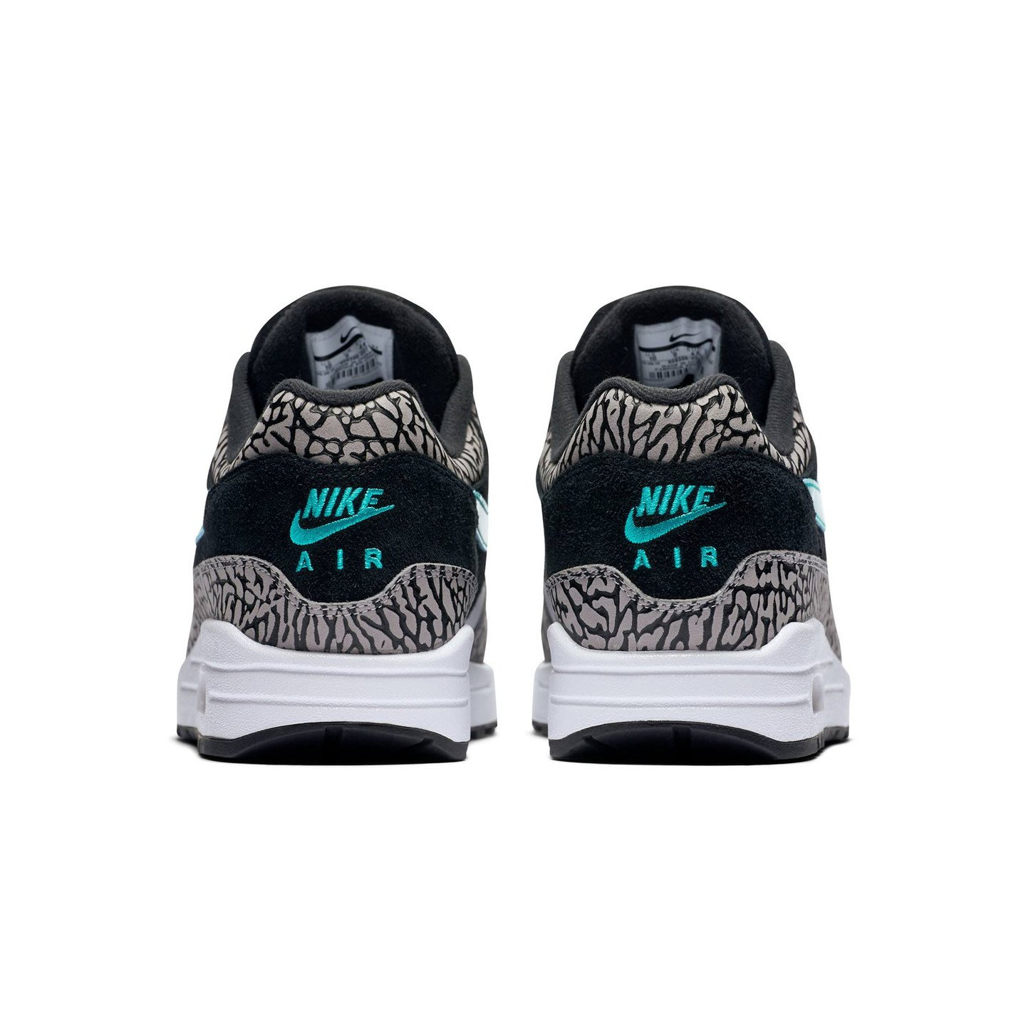 Nike Air Max 1 Premium Retro 'Atmos Elephant' Medium Grey / Clear Jade / Black / White 908366-001