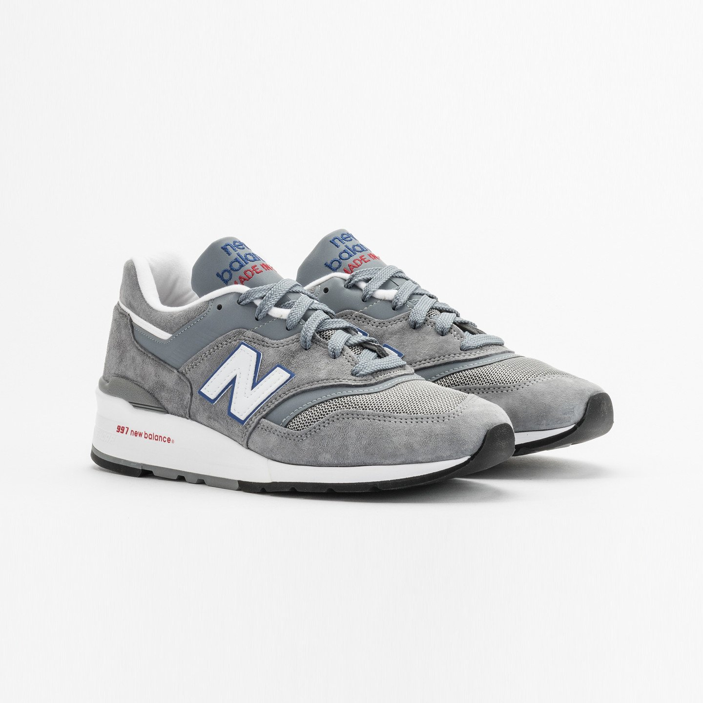 New Balance M997 Made in USA Grey / Blue / Red M997CNR-46.5