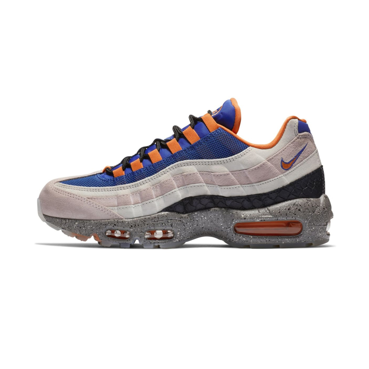 Nike Air Max 95 'King Of The Mountain' Champagne / Safety Orange / Sport Royal AV7014-600