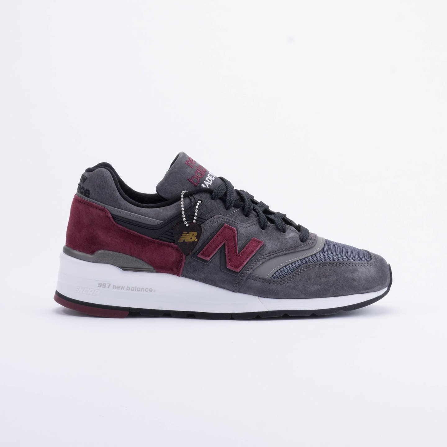 New Balance M997 Made in USA Charcoal/Burgundy M997CCF-45