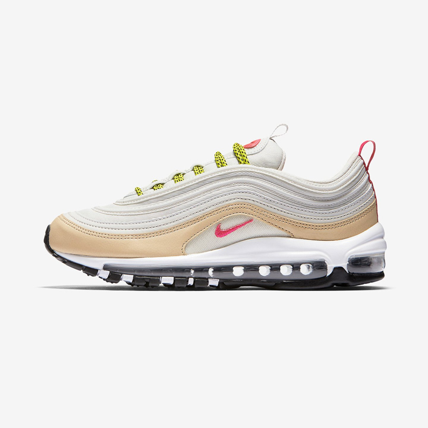 Nike Wmns Air Max 97 Light Bone / Mushroom / Bright Cactus / Deadly Pink 921733-004