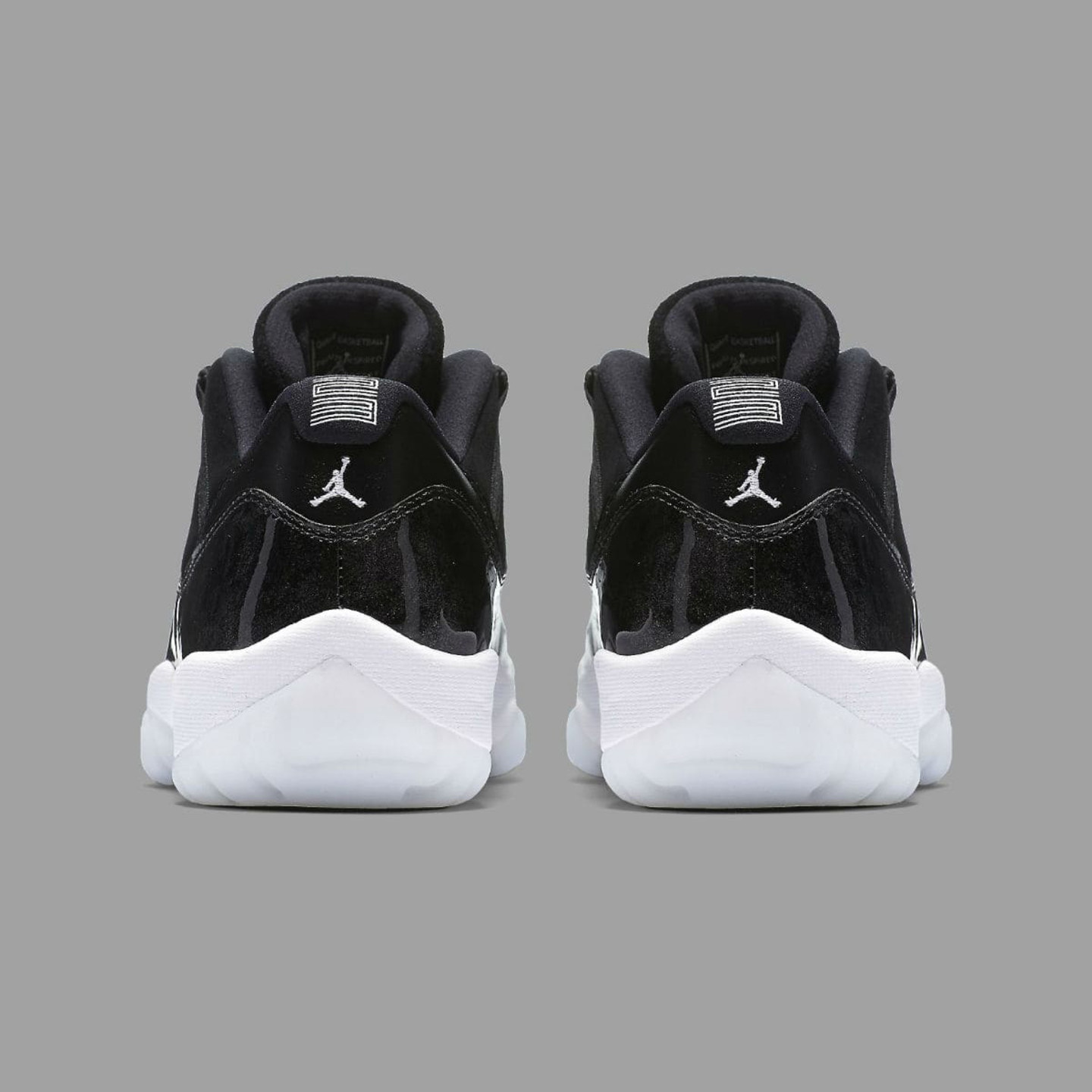 Jordan Air Jordan 11 Retro Low 'Barons' Black / White / Metallic Silver 528895-010-42