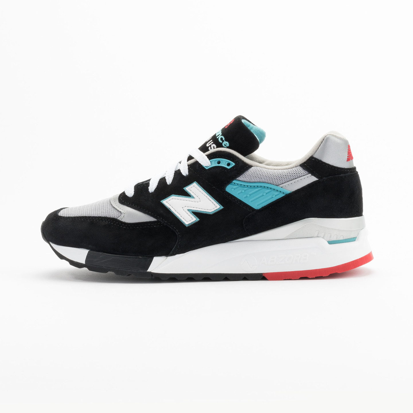 New Balance M998 CBB - Made in USA Black / Grey / Turquoise M998CBB-42