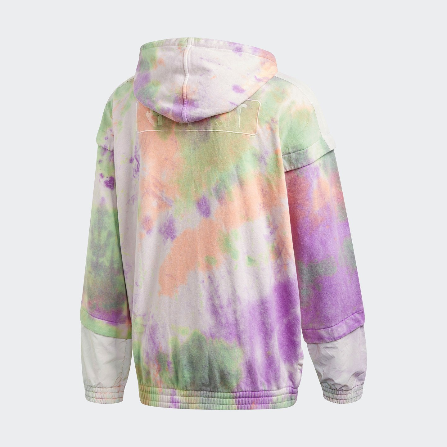 Adidas Pharrell Williams HU Holi Zipped Hoodie 'Powder Dye' Multicolor / White CW9413