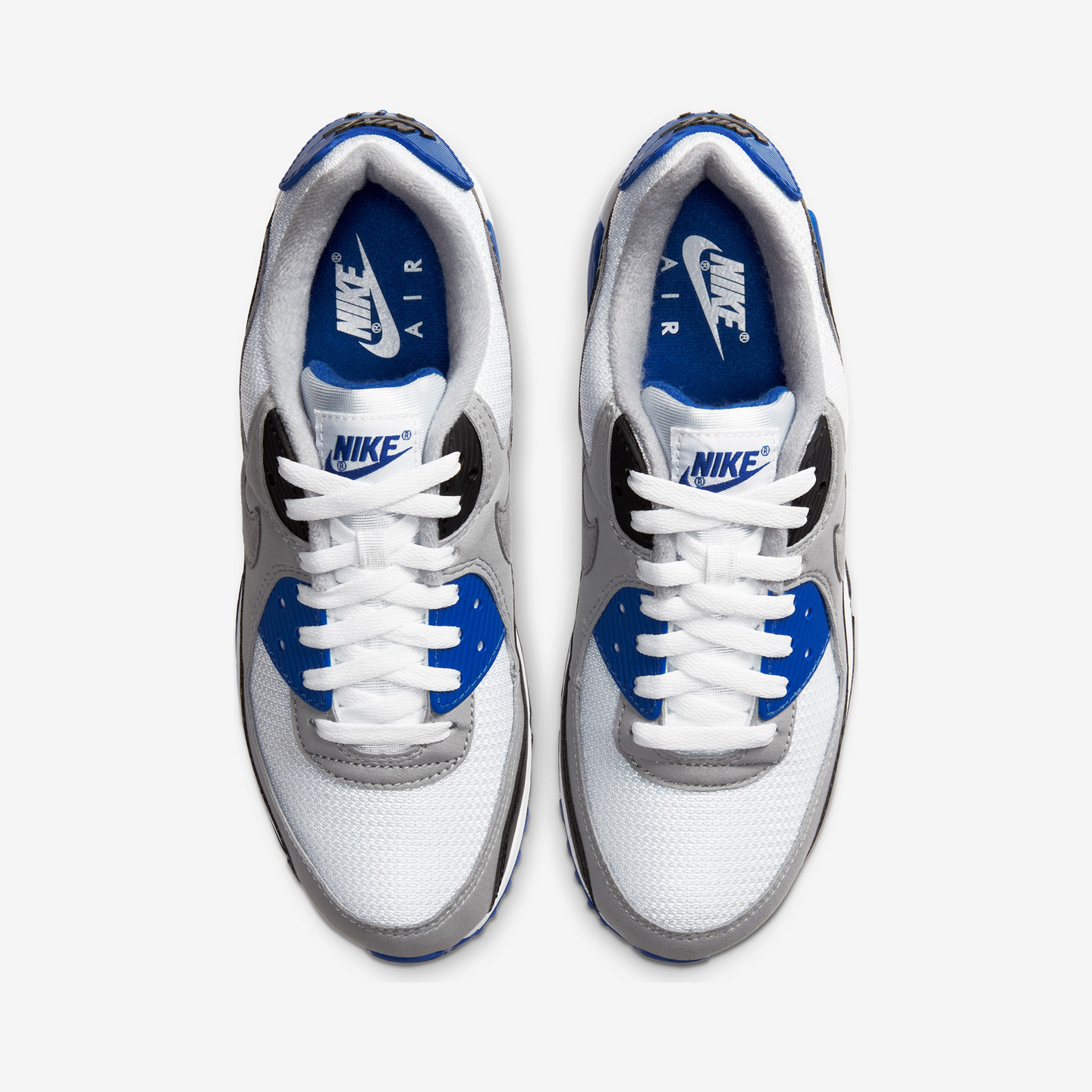 Nike Air Max 90 OG 'Hyper Royal' White / Particle Grey / Hyper Royal / Black CD0881-102