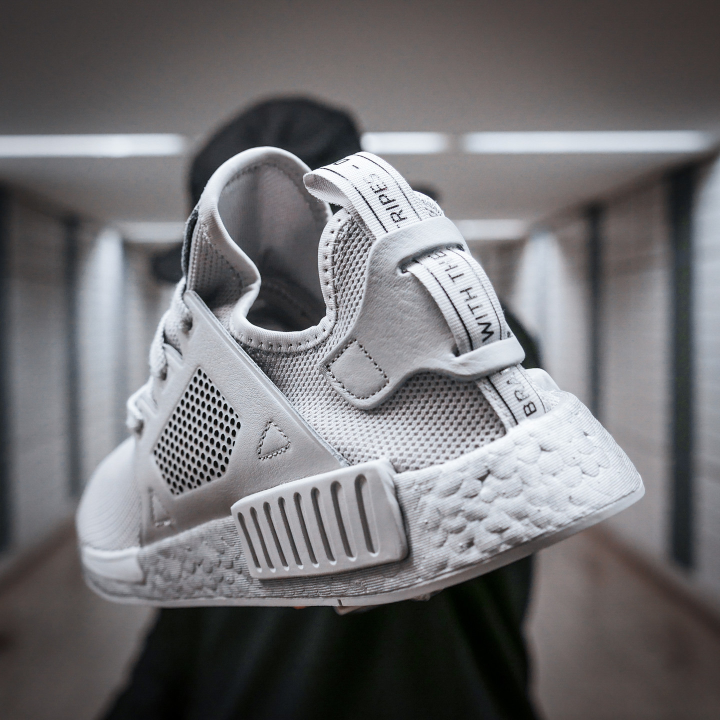 Adidas NMD XR1 Leather Cage Silver Grey BY9923