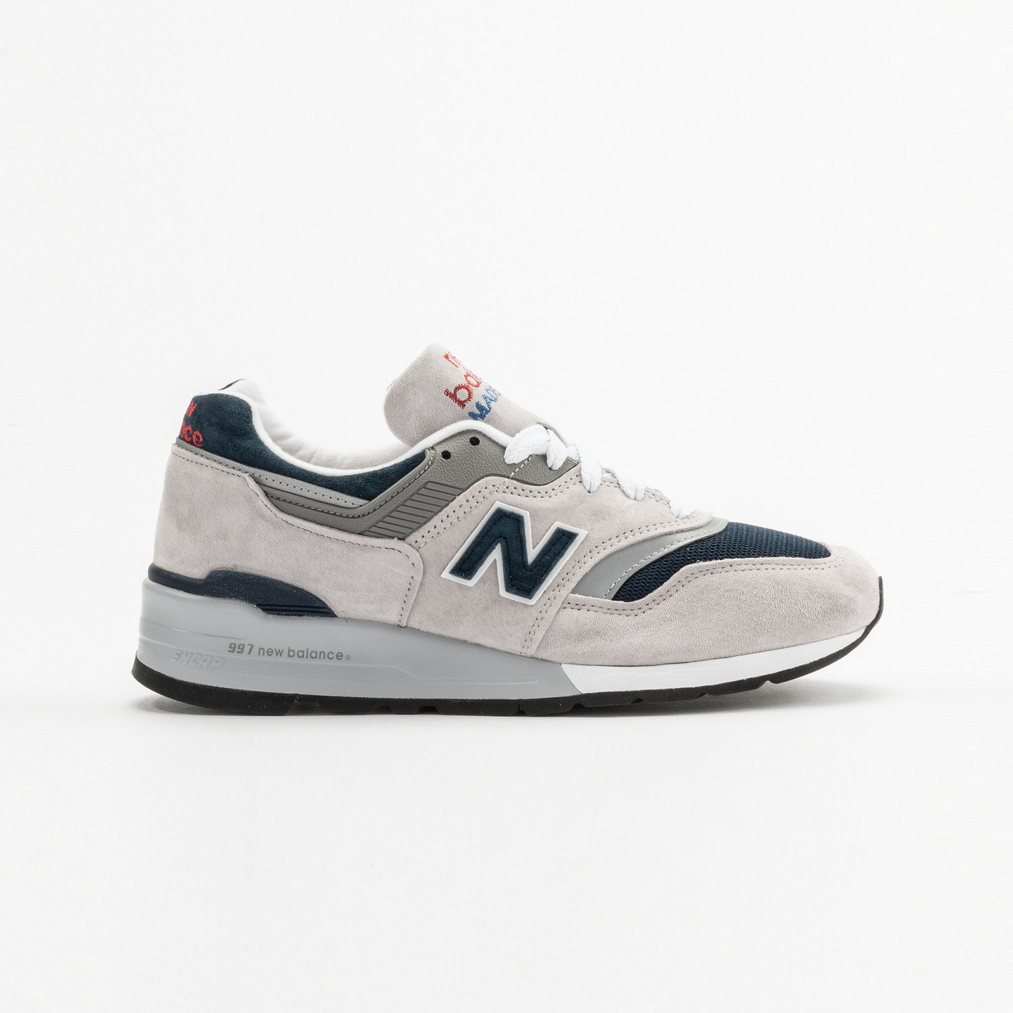 New Balance M997 - Made in USA Grey / Navy M997WEB