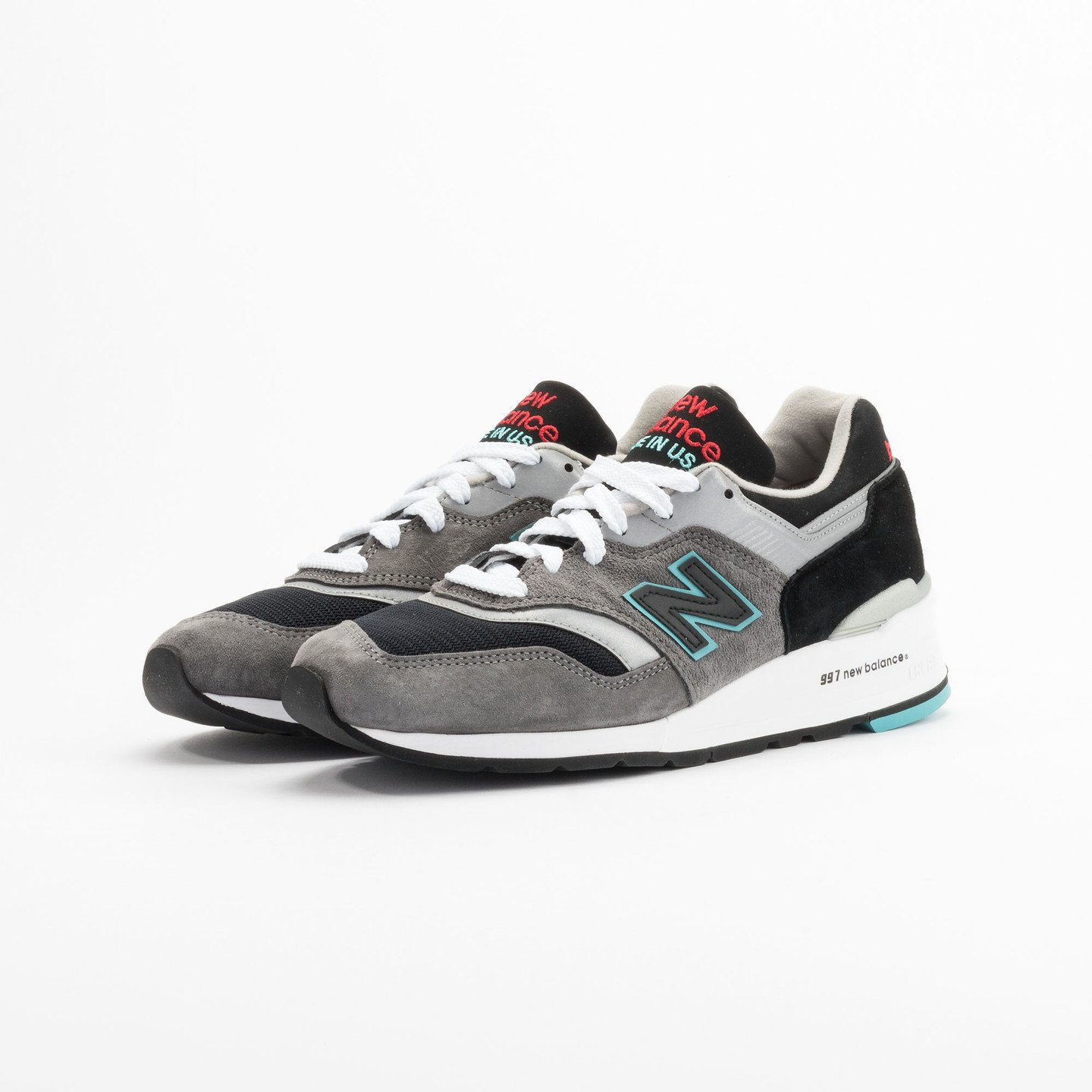 New Balance M997 Made in USA Grey / Black / Mint M997CGB-45.5