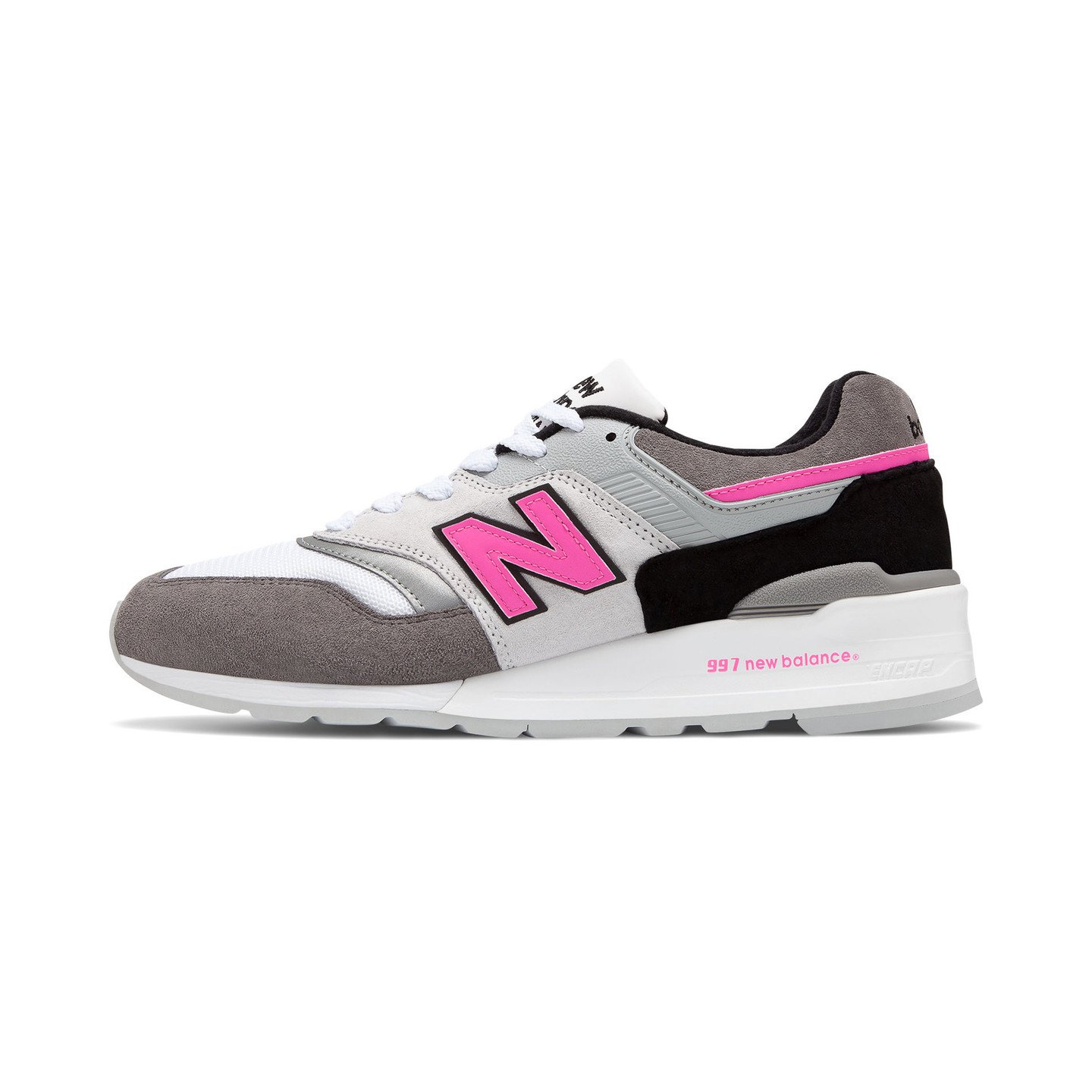 New Balance M997 - Made in USA Grey / Pink / White / Black M997LBK