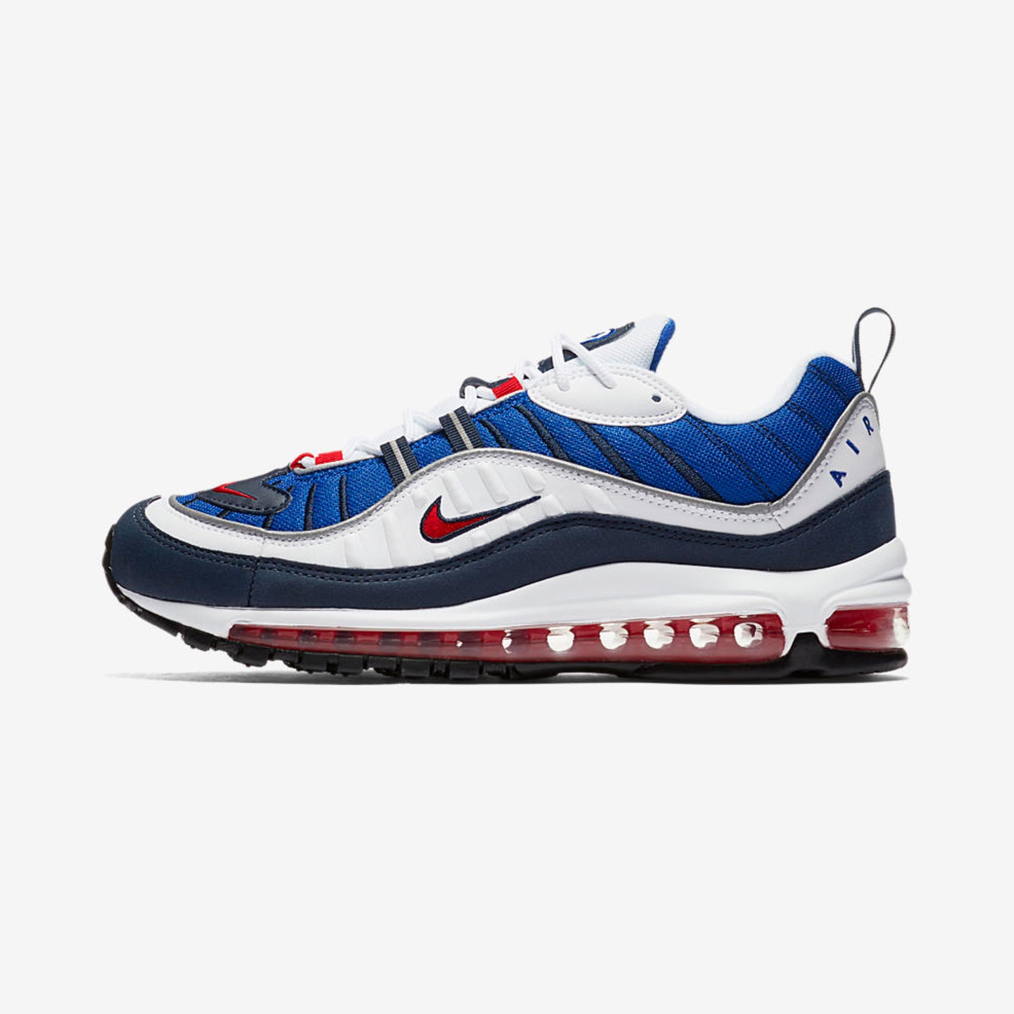 Nike Air Max 98 OG 'Gundam' White / University Red / Obsidian 640744-100