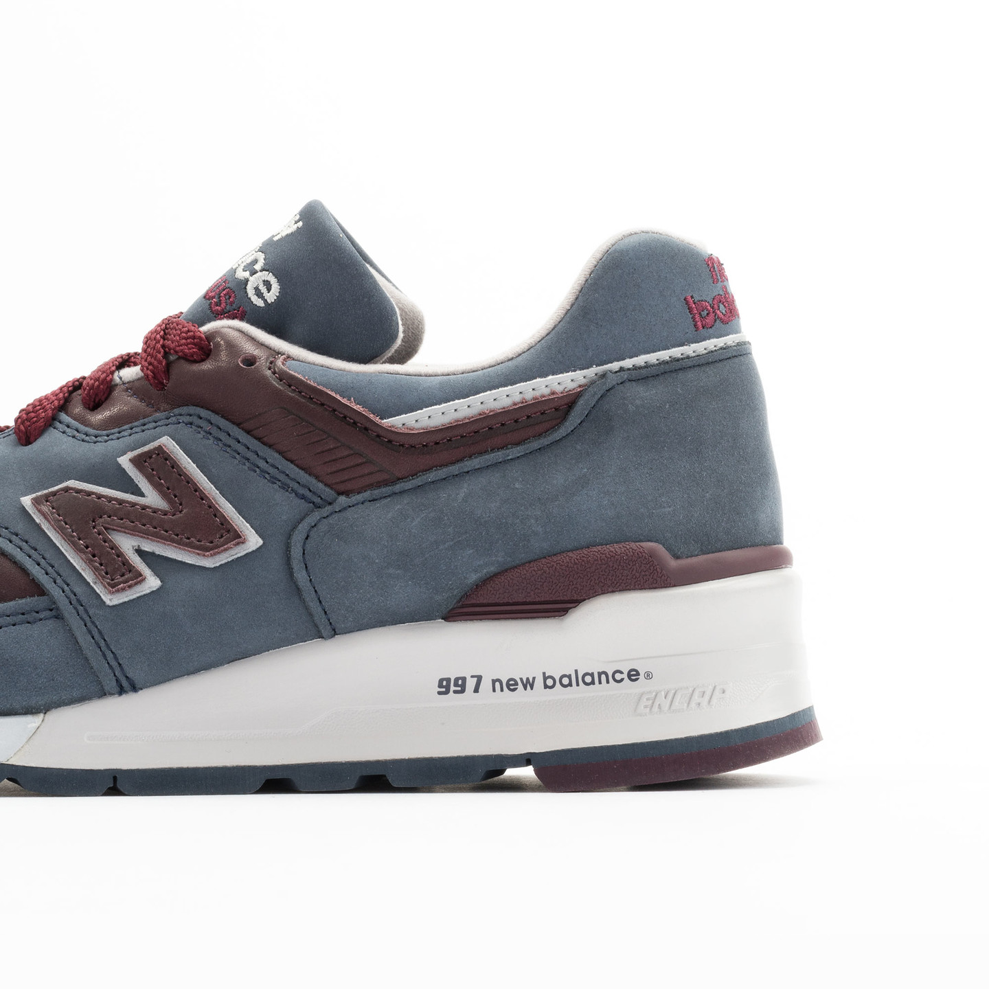 New Balance M997 DGM - Made in USA Grey Steel / Burgundy M997DGM-44.5